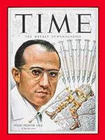 Time Magazine cover image of Dr. Jonas Salk