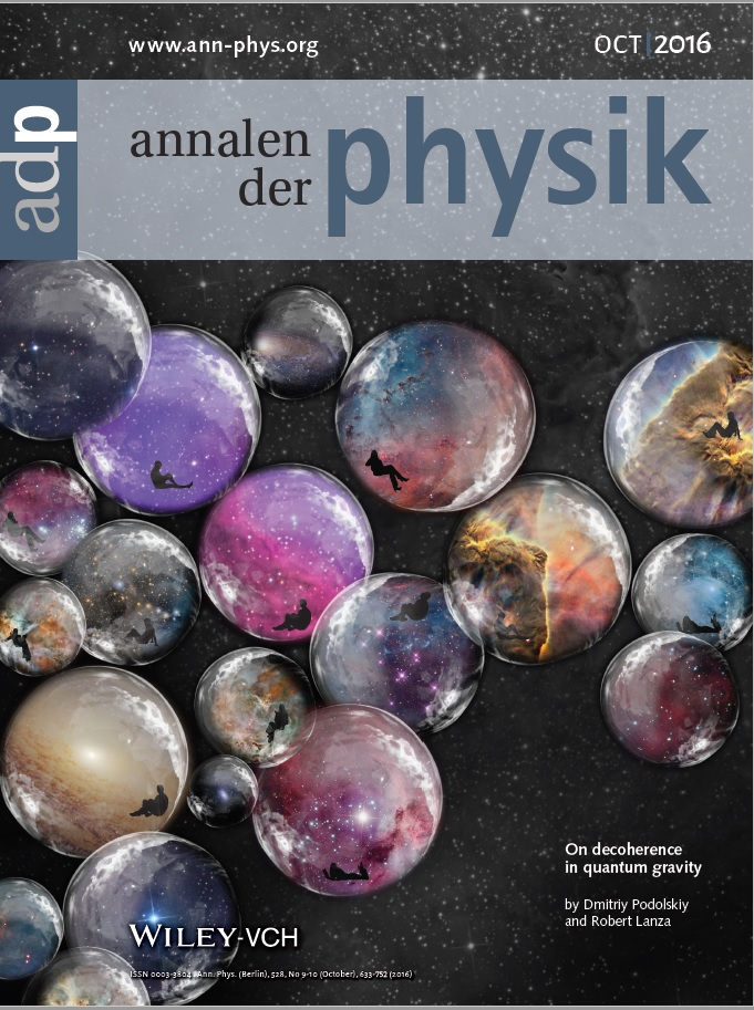 Magazine cover image of Annalen der Physik