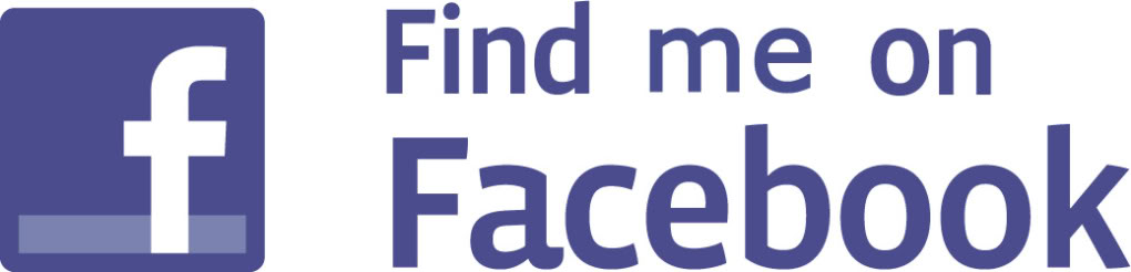 Find me on Facebook button